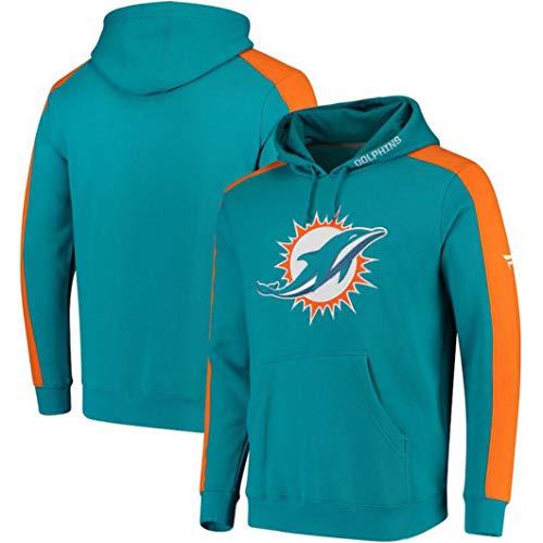 Miami Dolphins – – Sudaderas Con Capucha De Los Hombres Del Equipo De Fútbol De La NFL Uniforme Del Patrón De Impresión…