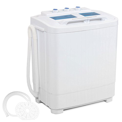 Della Electric Small Mini Portable Compact Washer Washing Machine (33L Washer & 16L Dryer)