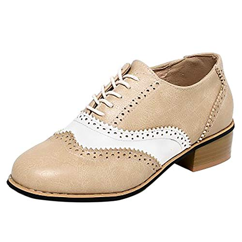 Coolcept Beige Brogue Femmes Hiver Autumn Chuassures Chunky vBwpfvrq