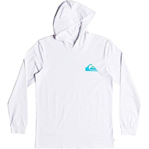 - Quiksilver Men's Vice Versa Hood Tee Shirt Hoodie, White, L