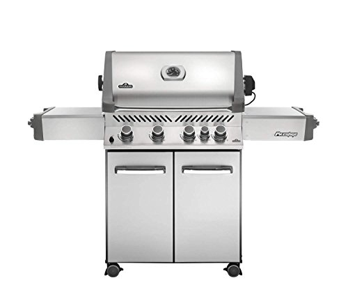 Freestanding Natural Gas Grill - Napoleon Grills Prestige 500 with Infrared Rear Burner Stainless Steel Natural Gas Grill