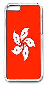 ICORER iPhone 6 Case Hong Kong Flag Lightweight iPhone 6 Case PC Hard Plastics Case Cover for iPhone 6 Transparent