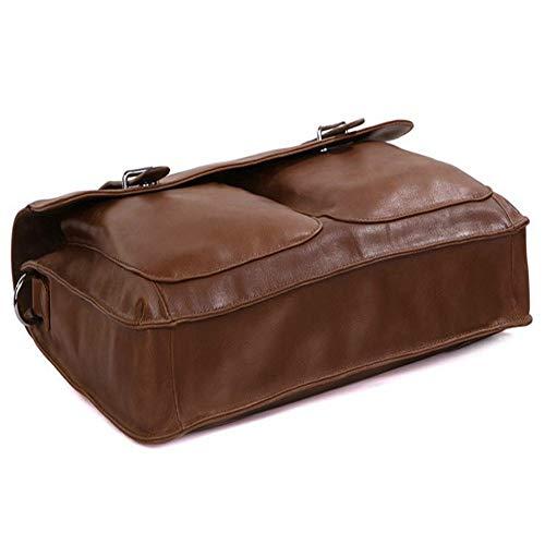 Spalla Borsa in laptop Marrone nero colore 13 Cartella 13 vintage unisex Yαyα 12 pollici 3 pelle per a74qHwdY4
