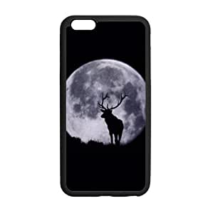 """amazing deer art,cool elk pattern Apple iPhone 6 Plus (5.5"""" inch) Plastic and TPU (Laser Technology) Durable Case, Cell Phone Cover"""
