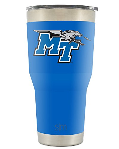 Simple Modern Middle Tennessee State University 30oz Cruiser Tumbler - Vacuum Insulated Stainless Steel Travel Mug - MTSU Blue Raiders Tailgating Cup College ()
