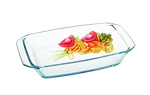 Simax Glassware 7106 Rectangular Roaster, 1.6-Quart, Clear by Simax Glassware
