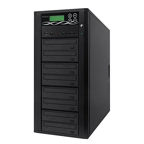 Spartan Media Mirror Flash Memory to Disc Duplicator with 1-7 DVD/CD Burners (with MS, CF, SD, USB Slots) M907-SSP