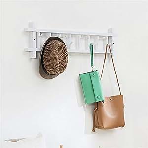 Percheros Perchero giratorio de pared con perchero de madera ...