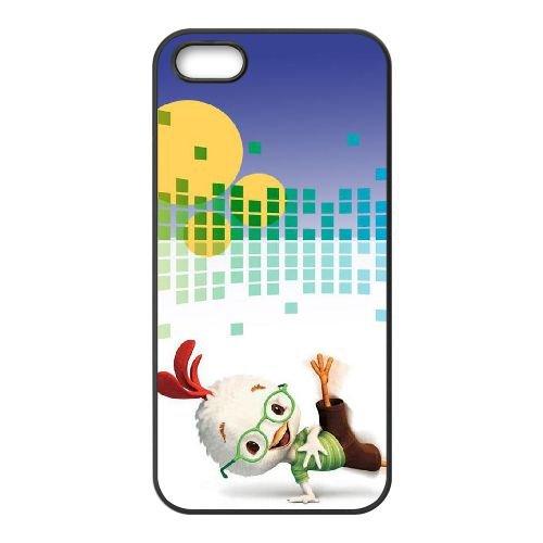 H5E15 Chicken Little H5V1QS coque iPhone 5 5s cellule de cas de téléphone couvercle coque noire DD4VSW6FT