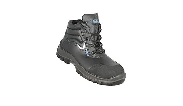 Giss - Calzado de protección de Piel para hombre, color negro, talla 39