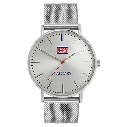 Relojes Calgary Silver Mountain. Reloj vintage para mujer, correa en ...