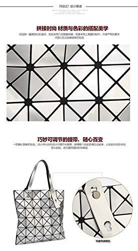 Couleurs Shopper Main Tote Géométrie Bao Tan Sac Femmes Light Shimmer 15 Purple Diamant Lattice Pliant À dc8qPHnwg1