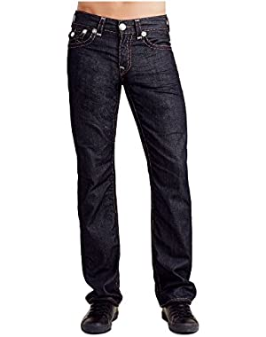Men's Relaxed Straight Leg Flap Grey Super T Stitch Jeans in BZ Glorious