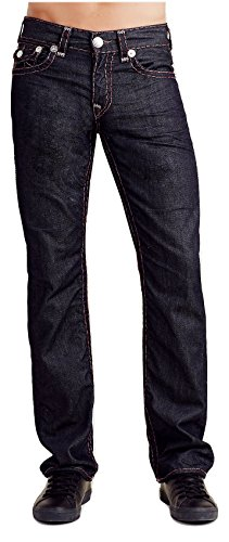 True Religion Men's Relaxed Straight Leg Flap Grey Super ...