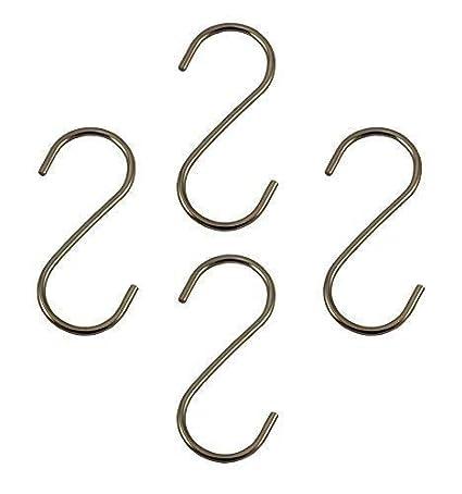 S Form Haken Fleischerhaken 12 x Haken S-Form Metall ca S-Haken Metallhaken 9cm