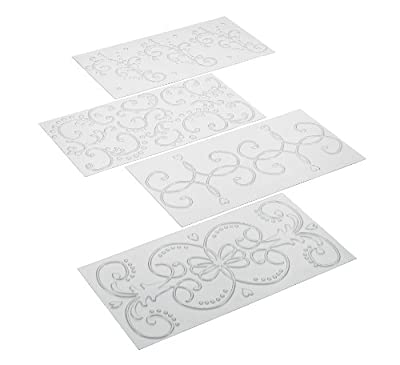 Cake Boss Decorating Tools 4-Piece Quilted Fondant Imprint Mat Set
