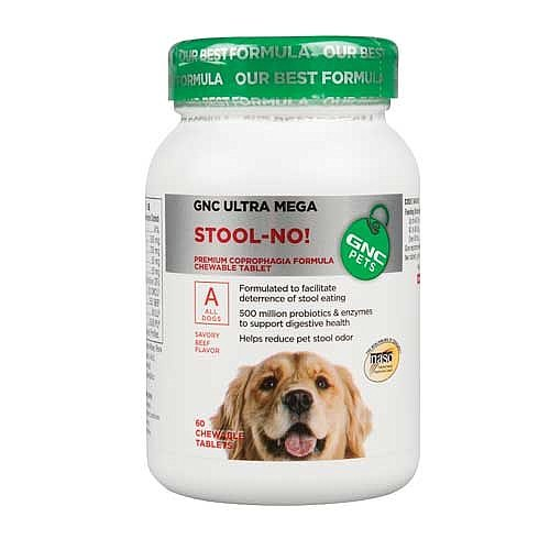 GNC Pets Ultra Mega Stool-No For All Dogs, Beef , 60 chewable tabs