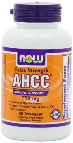 NOW Foods AHCC 750mg Xtra Strength, 60