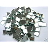 Mosaic Mirror tiles 10 x10 x 3mm Glass Silver Mirror Tiles. 100 Tile Pack
