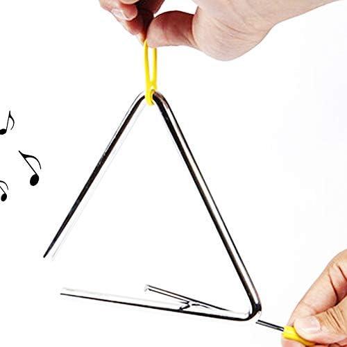 Magnoloran - Instrumento triangular de música, 4 unidades, acero ...