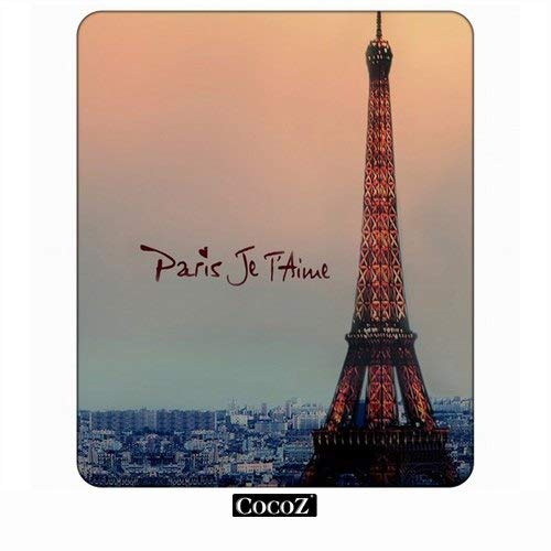 Eiffel Paris Je T'Aime Computers Mouse Pad cooz,Keyboard Non-Slip Rubber Base Mousepad