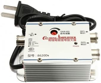 2 Way TV VCR repetidor de señal Antena Cable Broadband AMP ...