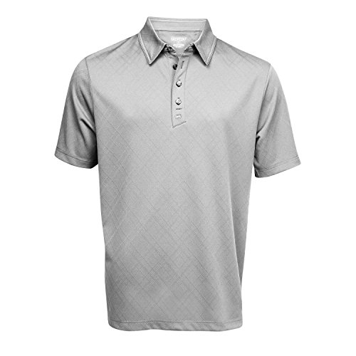 - Ogio Men's Fly-Wheel Golf Polo Shirt Black Chrome (XX-Large, Chrome / Black)