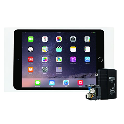 iPort 70733 Surface Mount System (Bezel for iPad mini 4- White, PoE Splitter and Injector) by iPort