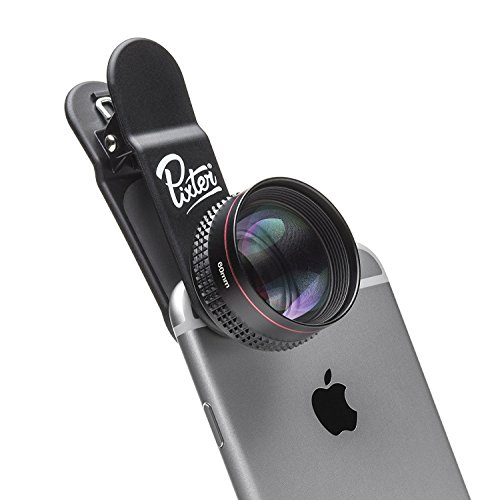 Pixter Telephoto - Pixter Premium Smartphone Lens [French Start-up] - Compatible iPhone 7/6s / 6s Plus / 6 / 5s, Samsung Galaxy S8 / S7, all smartphones