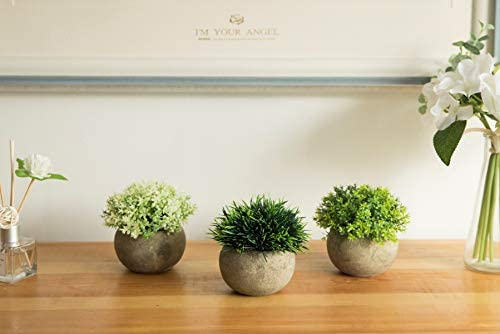 home, kitchen, home décor, artificial plants, flowers, artificial shrubs, topiaries,  artificial topiaries 8 picture The Bloom Times 2 Pcs Fake Plants for deals