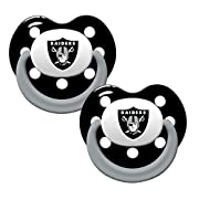 NFL Football 2014 Baby Infant Pacifier 2-Pack - Pick Team (Oakland Raiders - Holes)