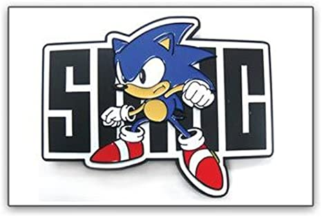 Amazon Com Sonic The Hedgehog Sonic Stance And Name Belt Buckle Everything Else