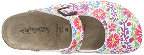 Softwaves 276 057 - Zuecos Mujer Varios Colores - Mehrfarbig (White Multi 199)