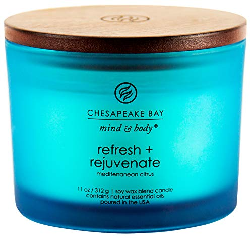 (Chesapeake Bay Candle Scented Candle, Refresh + Rejuvenate (Mediterranean Citrus) Coffee Table)