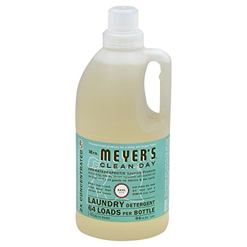 Mrs. Meyer's Clean Day Laundry Detergent, Basil, 64 oz, 64 loads-2 pk