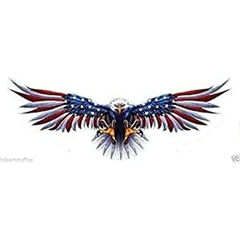 Winged Wing Emblem /& American Eagle /& US Flag for Motorcycle Helmet Car sticker