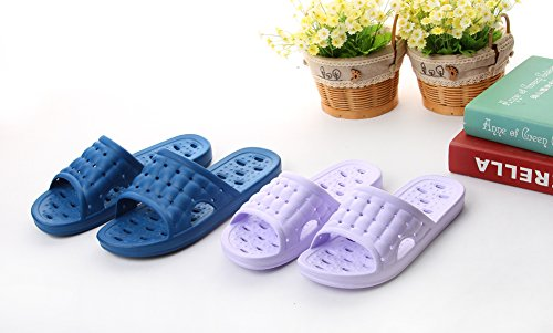 Dark Slippers Foot Slip Men's Sandal Fashion Shower Bathroom Massage Women's Non Blue with and wxq1Y7C