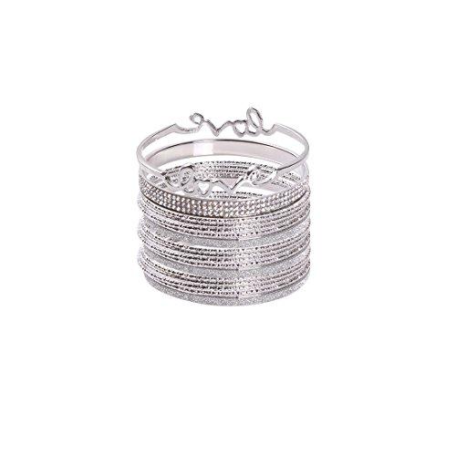 VK Accessories Layered Bangles Bracelets