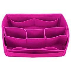 """Sizes:- 15""""(Length) x 7""""(Height) x 7""""(Depth)- This bag can fit either for L.V. Neverfull GM or L.V. Speedy 40 Color: - Pivoine We offer bag organizer in various colors and models: - If you prefer this organizer with a different color, e.g. Kh..."""