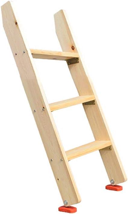 Escalera de Madera Maciza, escaleras de Uso doméstico Multiusos Interiores, litera de Estudiante, Uso de Loft (Tamaño : 3 Step (100cm High)): Amazon.es: Hogar