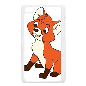 iPod Touch 4 Case White Disney The Fox and the Hound Character Tod 003 WH9516373