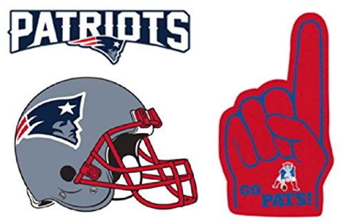 FATHEAD Set of 3 New England Patriots Team Logo Helmet Sign Graphics Official NFL Vinyl Wall Graphics 12