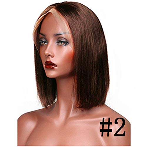 (Lace Front Human Hair Wigs Ombre Human Hair Wig Blonde Straight Short Cut Bob)