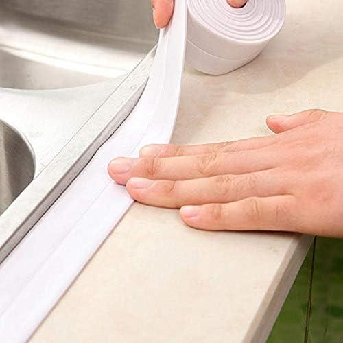Color : Grey , Size : 3.2 m CHUJIAN 3,2M /évier de Cuisine /étanche Mildiou Forte Auto-adh/ésif Ruban Anti-humidit/é PVC Autocollant Mural Salle de Bains Coin /évier Ligne Autocollants