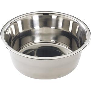 SPOT Mirror Finish Bowl | Stainless Steel | Pet Dish | Pet Dish For Dogs | Pet Dish For Cats | 2 Quart | By Ethical Pet