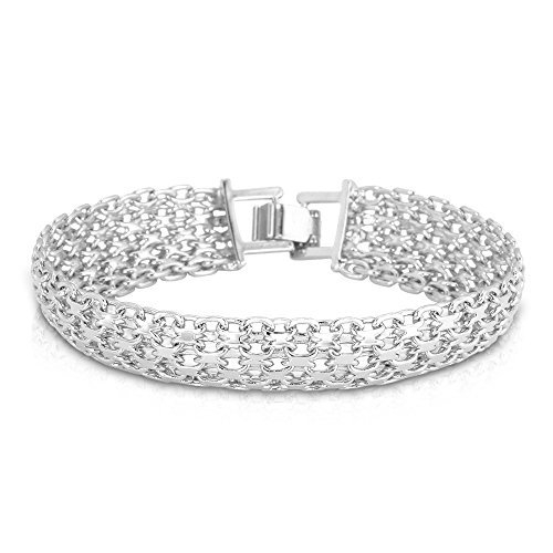 U7 Jewelry Chunky Platinum Bracelet