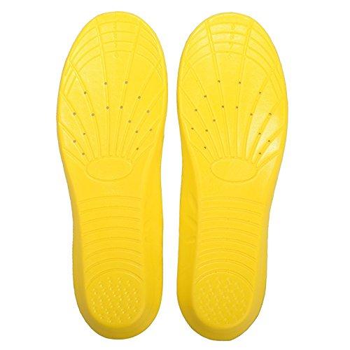Forfar 1 Paire Zapatos de memoria de espuma EVA Cojín transpirable Insertar Interior Plantillas ortopédicos Arco Suave Deporte absorción del amortiguador de Protección al aire libre 41-45&3 paires