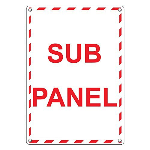 Weatherproof Plastic Electrical Panel Sign with English Text and Symbol