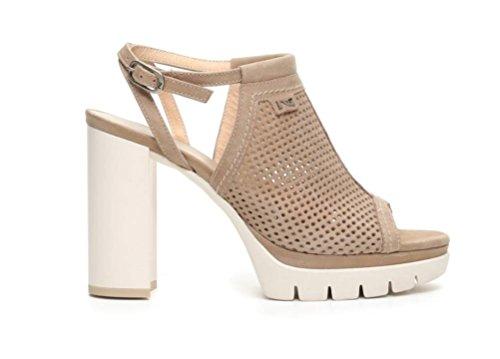Nero Giardini - Sandalias de vestir de Piel para mujer champán