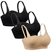 iLoveSIA 3pack Nursing Bra 1Nude+2Black Size S Fit 32BC 30CD 34AB 36AA 36A